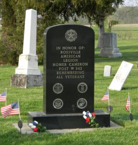 In honor of: Rossville American Legion Homer Cameron Post #342 Remembering all Veterans