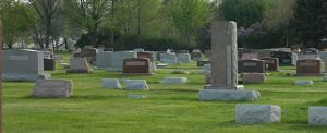 Headstones at the Rossville Cemetery