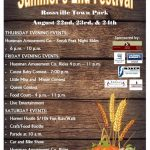 Rossville Summer's End Festival Schedule of Events
